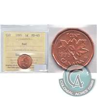 1995 Canada 1-cent ICCS Certified MS-65 Red
