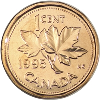 1995 Canada 1-cent Brilliant Uncirculated (MS-63)