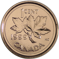 1999 Canada 1-cent Proof Like