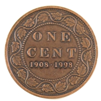1998 (1908-1998) Canada Antique 1-cent Proof