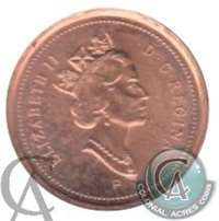 1999P (test) Canada 1-cent Brilliant Uncirculated (MS-63)