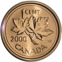 2000W Canada 1-cent Proof Like