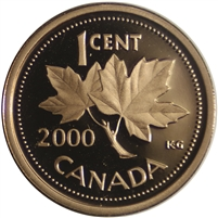 2000 Canada 1-cent Proof