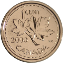 2000 Canada 1-cent Proof Like