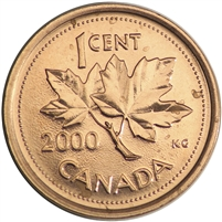 2000 Canada 1-cent Brilliant Uncirculated (MS-63)