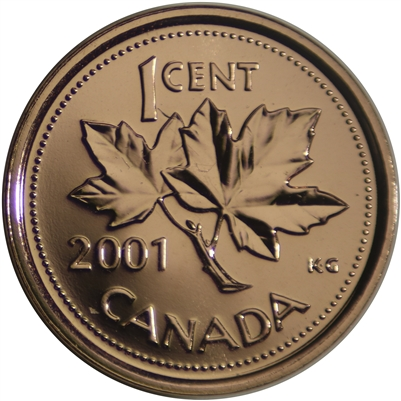 2001P Canada 1-cent Proof Like