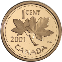 2001 Canada 1-cent Proof