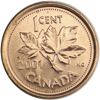 2001 Canada 1-cent Brilliant Uncirculated (MS-63)