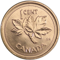 2002 Canada 1-cent Brilliant Uncirculated (MS-63)