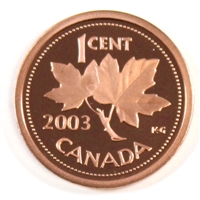 2003 Canada 1-cent Proof
