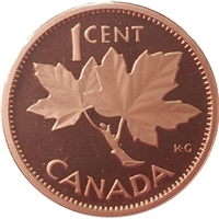 2003 Canada Coronation (1953-2003) 1-cent Proof