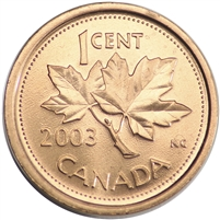 2003 Canada Old Effigy 1-cent Brilliant Uncirculated (MS-63)