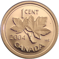 2004 Canada 1-cent Proof