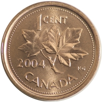 2004 Canada 1-cent Brilliant Uncirculated (MS-63)