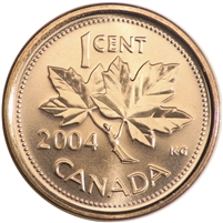 2004P Canada 1-cent Brilliant Uncirculated (MS-63)