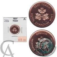 2004 Canada Test Token 1-cent Proof Like