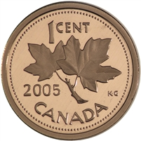 2005 Canada 1-cent Proof