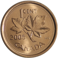 2005 Canada 1-cent Brilliant Uncirculated (MS-63)