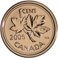 2005P Canada 1-cent Proof Like