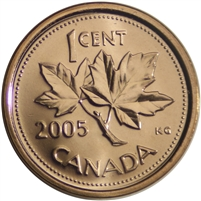 2005P Canada 1-cent Brilliant Uncirculated (MS-63)