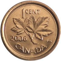 2006 Canada Logo Non Magnetic 1-cent Brilliant Uncirculated (MS-63)