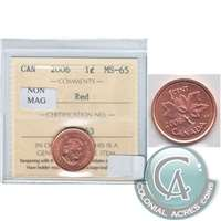 2006 Canada Non Magnetic 1-cent ICCS Certified MS-65 Red