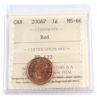 2006P Canada Magnetic 1-cent ICCS Certified MS-66 Red