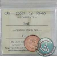 2006P Canada Magnetic 1-cent ICCS Certified MS-65 Red