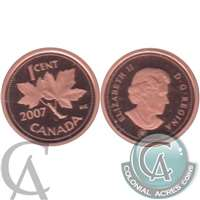 2007 Canada 1-cent Proof