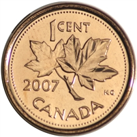 2007 Canada Magnetic 1-cent Brilliant Uncirculated (MS-63)