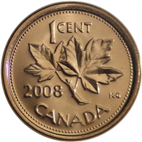 2008 Canada 1-cent Brilliant Uncirculated (MS-63)