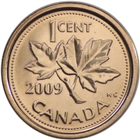 2009 Canada Magnetic 1-cent Brilliant Uncirculated (MS-63)