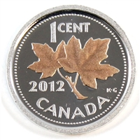 2012 Canada 1-cent Silver Proof