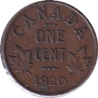 1920 Canada Small 1 Cent Circulated