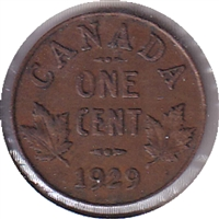 1929 Canada 1 Cent Circulated