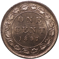 1897 Canada 1-cent Brilliant Uncirculated (MS-63) $