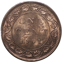 1901 Canada 1-cent Red & Brown UNC+ (MS-62) $