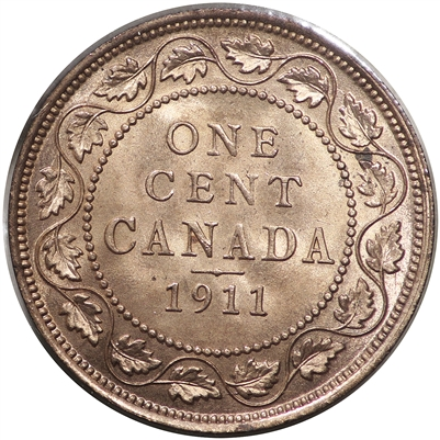 1911 Canada 1-cent Choice Brilliant Uncirculated (MS-64) $