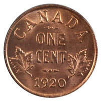 1920 Canada Small 1-cent Choice Brilliant Uncirculated (MS-63) $