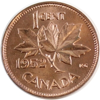 1952 Canada 1 Cent Choice BU (MS-64)