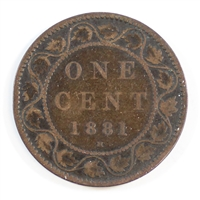 1881H Obv. 1a Canada 1 Cent Very Good (VG-8)