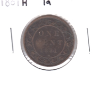 1881H Obv. 1a Canada 1 Cent VG-F (VG-10)