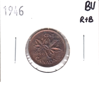 1946 Canada 1 Cent Brilliant Uncirculated R & B (MS-63