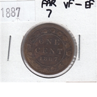 1887 Far 7 Canada 1 Cent VF-EF (VF-30)