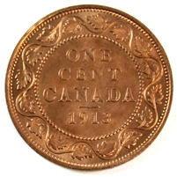 1913 Canada 1 Cent Choice Brilliant Uncirculated (MS-64)