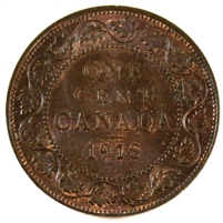1918 Canada 1 Cent Brown UNC+ (MS-62)