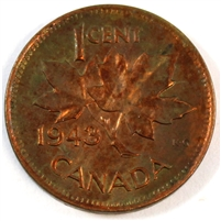 1943 Canada 1 Cent R & B Brilliant Uncirculated (MS-63)