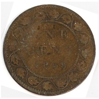 1859 DP #3 Canada 1 Cent Good (G-4) $