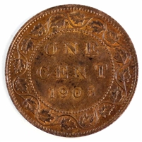 1903 Canada 1 Cent Brilliant Uncirculated R & B (MS-63) $
