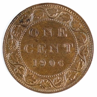 1906 Canada 1 Cent Brilliant Uncirculated R & B (MS-63) $